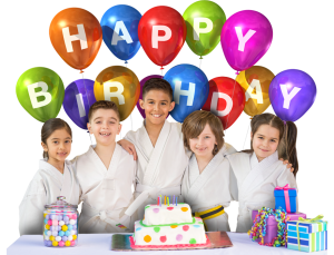 kids at a birthday party with balloons